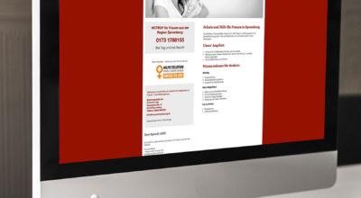 Frauennotwohnung - Website