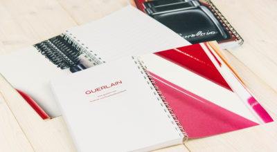 Guerlain - Notizbuchgestaltung -Werbeartikel
