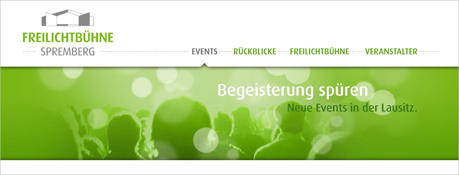 Freilichtbühne Spremberg - Design