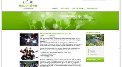 Freilichtbühne Spremberg - Website