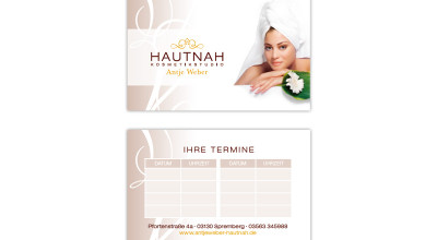 Hautnah - Bestellkarte