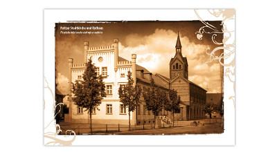 Artcards 4 - Kirche und Rathaus Peitz