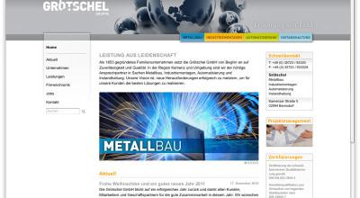 Grötschel - Website, Werbung