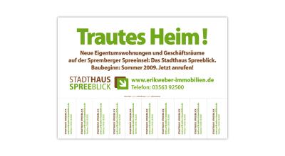 Stadthaus Spreeblick - Plakat mit Abrissecken