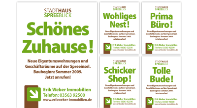 Stadthaus Spreeblick - Werbeslogan