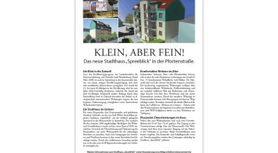 Stadthaus Spreeblick - Presseinformation