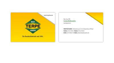 Terpe Bau GmbH - Visitenkarte