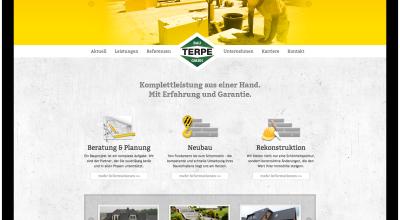 Terpe Bau GmbH - Internetauftritt