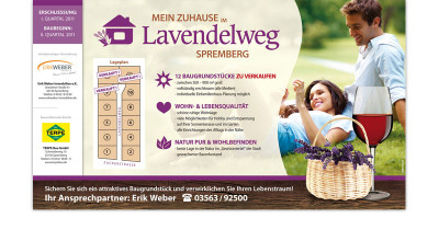 Lavendelweg Spremberg - Bauschild