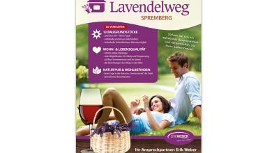 Lavendelweg Spremberg - Plakat