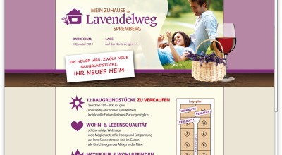 Lavendelweg Spremberg - Microsite