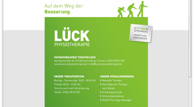 Lück Physiotherapie - Website