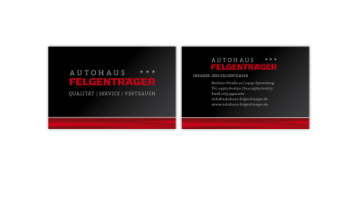 Autohaus Felgenträger - Visitenkarte