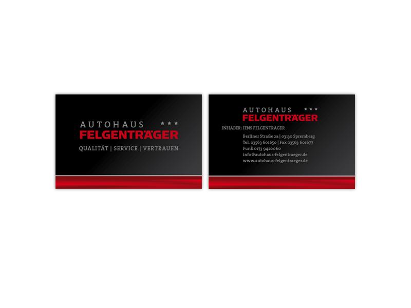 Autohaus Felgenträger Corporate Design Für Technik Branche