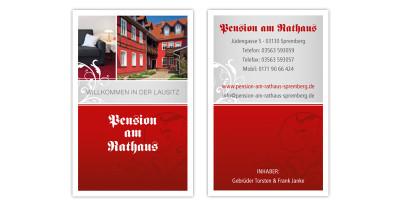 Pension am Rathaus - Visitenkarte