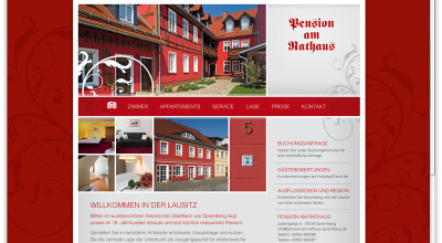 Pension am Rathaus - Website