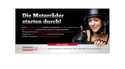 Zweirad Hübner - Flyer/Mailing