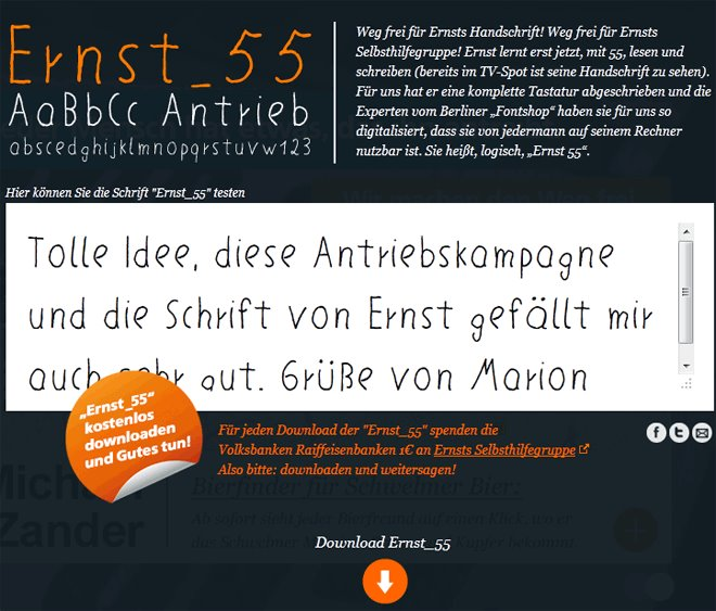 """FreeFont """"Ernst55"""""""