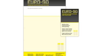 EURO-90 – Brief und Visitenkarte