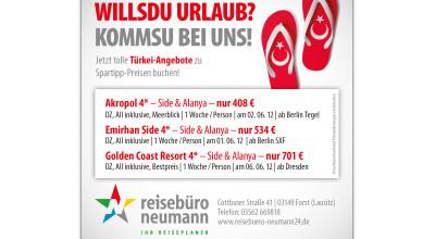 Reisebüro Neumann – Anzeige