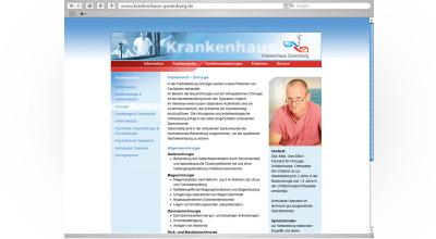 Krankenhaus Spremberg – Website