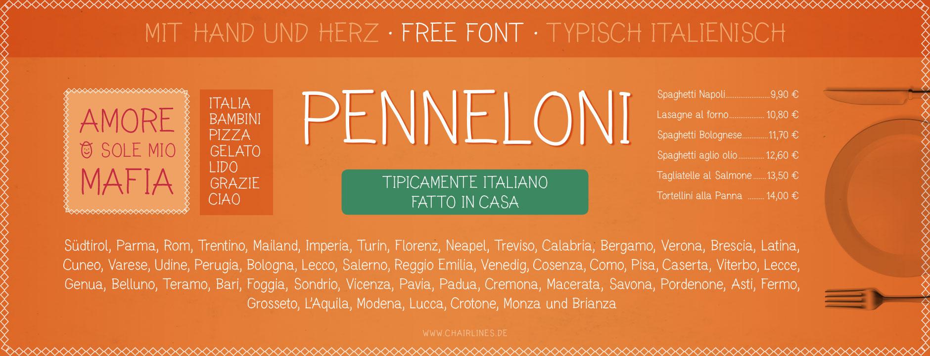 Schriftdesign – Penneloni – Free Font