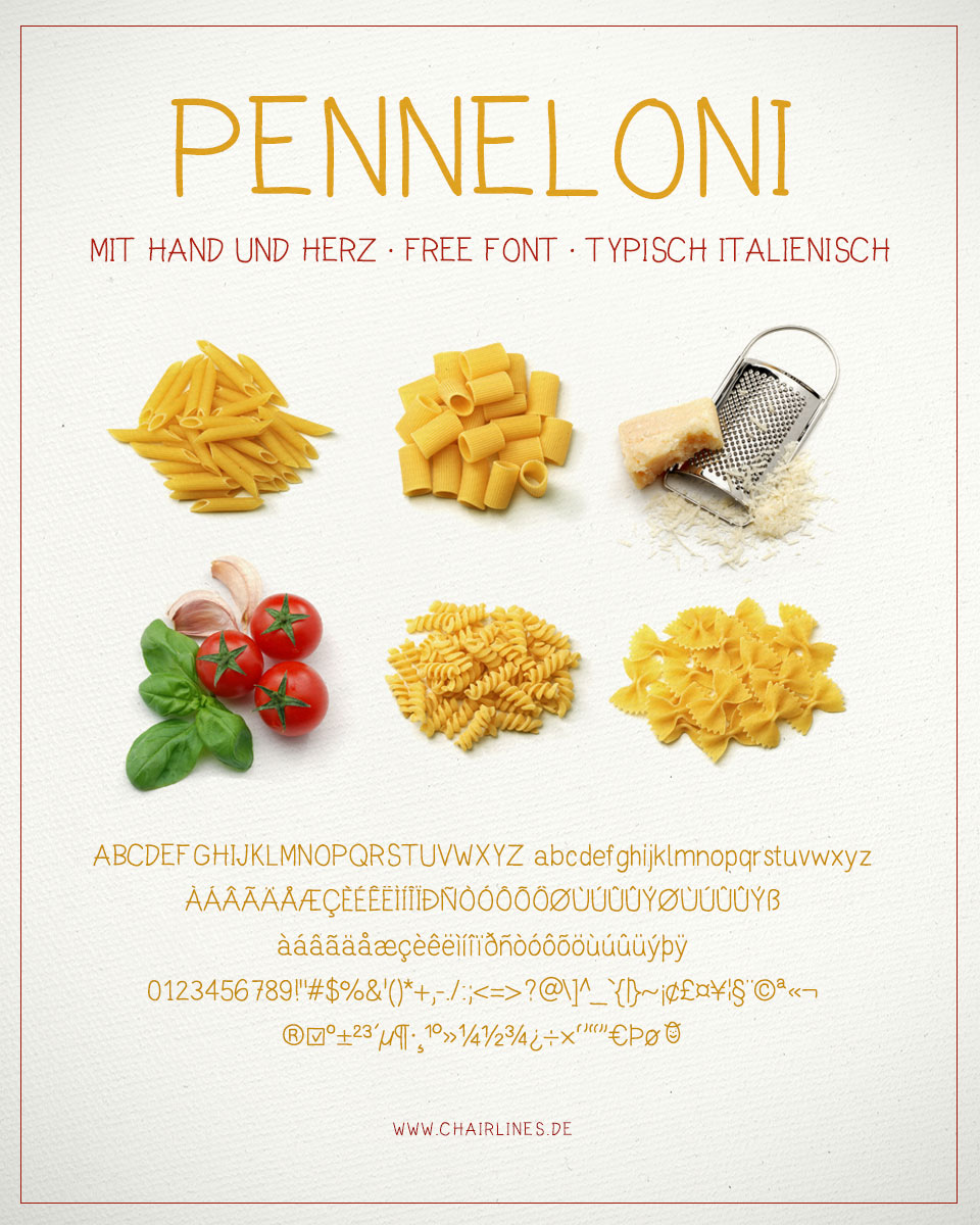 Schriftdesign – Penneloni – Free Font – Plakat