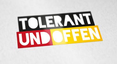 tolerant und offen - Aufkleber