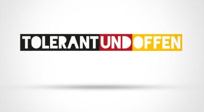 tolerant und offen - Logo einzeilig