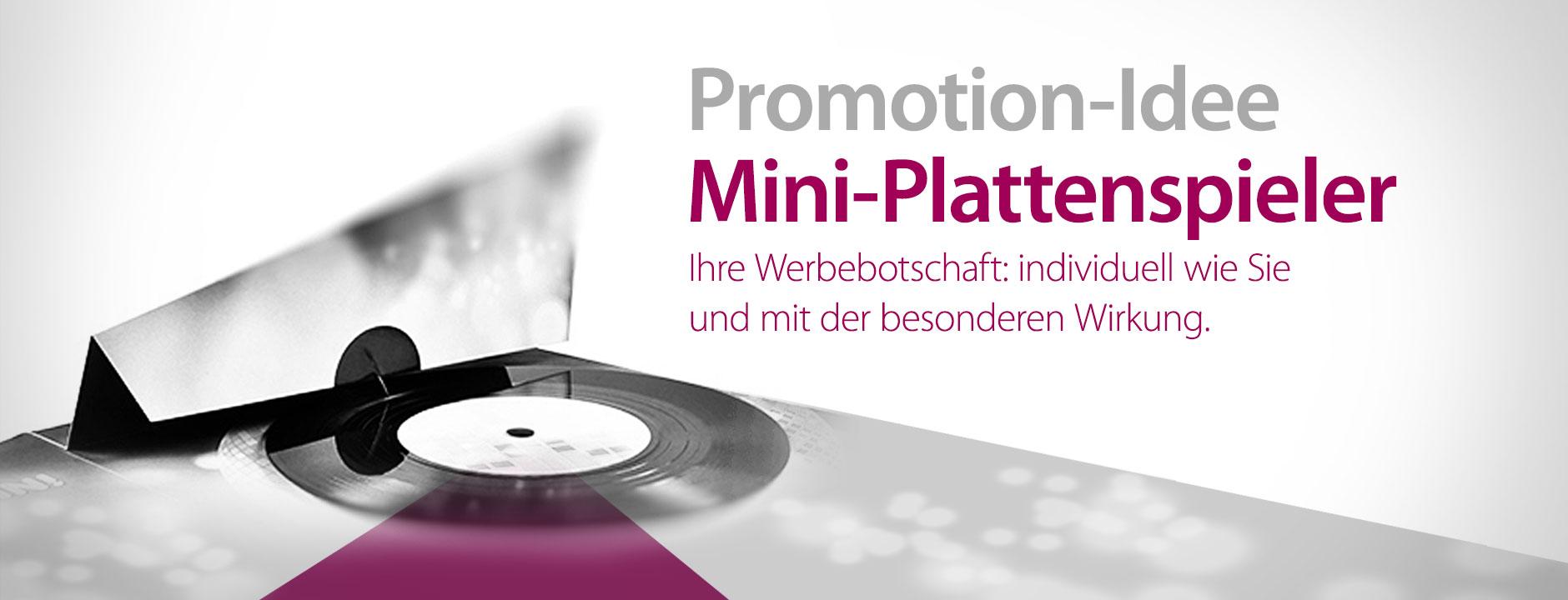 Promotion-Idee - Mini-Plattenspieler