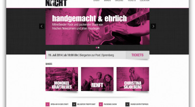 Rock- & Bluesnacht - Internetseite