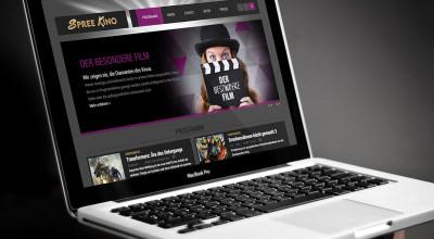 Spreekino - Webdesign