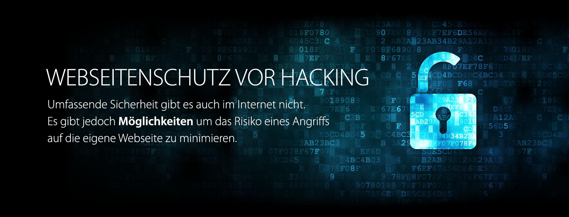 Webseitenschutz vor Hacking