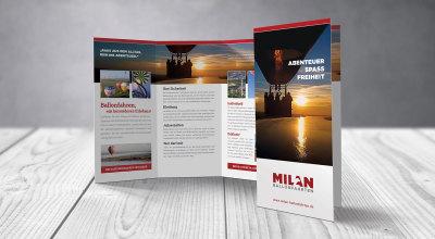 Milan Ballonfahrten - Flyerdesign