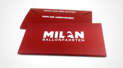 Milan Ballonfahrten - Gutscheintasche