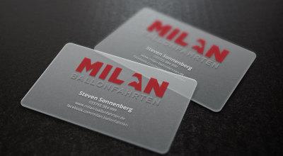 Milan Ballonfahrten - Visitenkarte Plastik