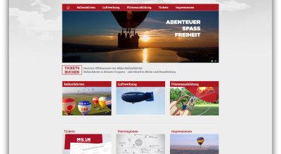 Milan Ballonfahrten - Webdesign