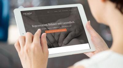René Kucher Massage – Webseite iPad-Ansicht