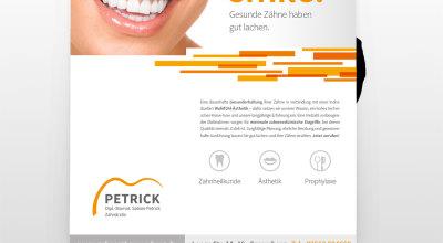 ZA Petrick - Plakat Zahnarztpraxis