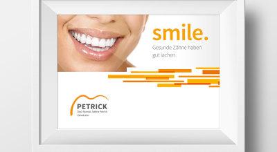 ZA Petrick - Werbeschild Zahnarztpraxis
