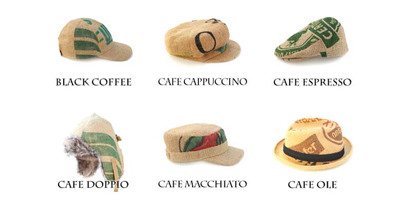 Upcycling - Hüte aus Kaffeesäcken
