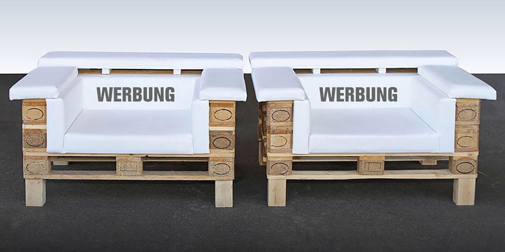 Upcycling-Sessel mit Ihrem Logo