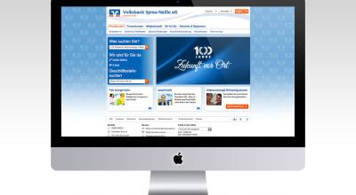 Volksbank Spree-Neiße Jubiläum - Webdesign
