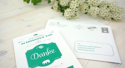 Hochzeits-Ausstattung - Dankeskarte