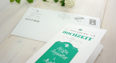 Hochzeitsdesign - Einladungskarte