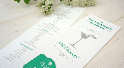 Hochzeits-Ausstattung - Getränkekarte