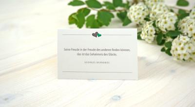 Hochzeits-Ausstattung - Tischkarte