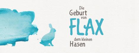 Hase Flax – Kinderbuch – Design im Aquarell-Stil