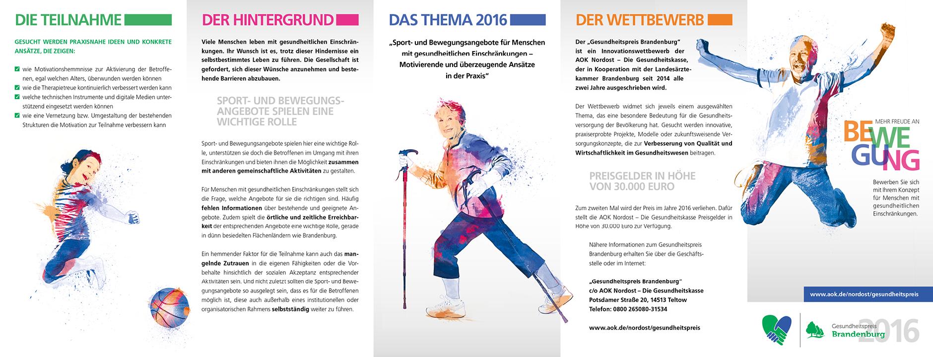 Gesundheitspreis Brandenburg 2016 – Flyergestaltung