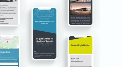 Dock3 Lausitz - Website Screens - chairlines medienagentur